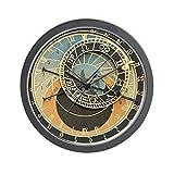 "CafePress - Prague Orloj Astronomical Clock Cutout - Unique Decorative 10"" Wall Clock"