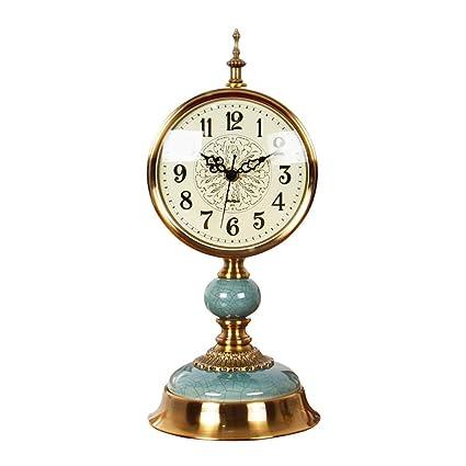 Amazon com: Desktop Wall Clock - Copper Plating Process/Metal Bell