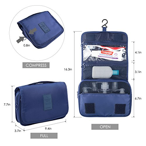 Multifunctional Portable Travel Hanging Toiletry Bag Waterproof Compact Travel  Organizer Cosmetic Make Up Bag Case Beach Pouch Bathroom Storage Organizer  ... d30c751948382