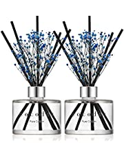 Cocodor Preserved Real Flower Reed Diffuser/Pure Cotton / 6.7oz(200ml) / 2 Pack/Reed Diffuser Set, Oil Diffuser & Reed Diffuser Sticks, Home Decor & Office Decor, Fragrance and Gifts