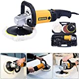 7 Inch Electric 6 Variable Speed Car Polisher Buffer Waxer Sander Detail Boat Safety Switch Externally Accessible Carbon Brush