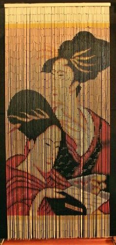 Bamboo Beaded Curtain Geisha Girl Chinese Door Way Room Divider 90 Strands NT/BB-05