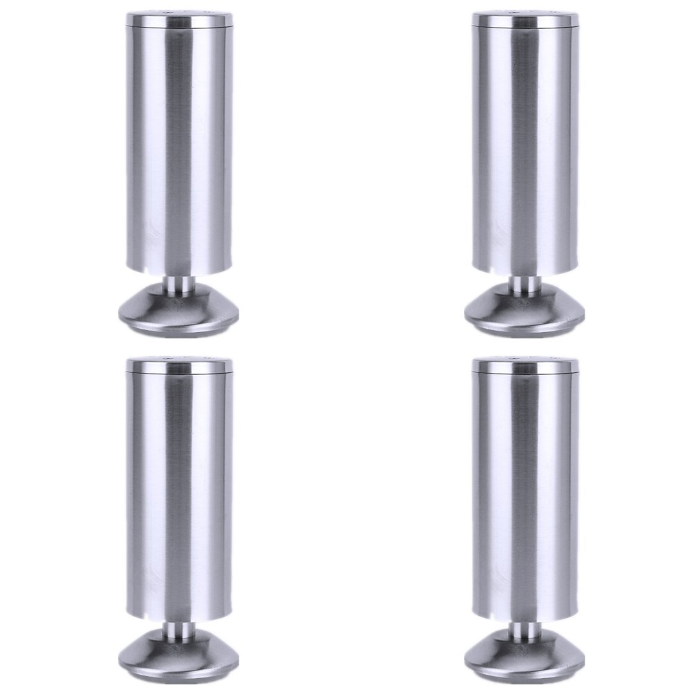 Stainless steel Furniture Legs Round Sofa Legs, Set of 4, Mid-Century Modern Perfect For Sofa, Couch, Ottoman, Bed,Coffee Table (Height 15cm)