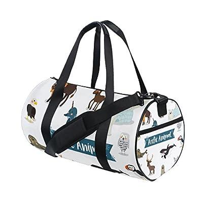 3b031aa7caf8 low-cost Gym Bag Cartoon Fox Penguin Bear Sports Travel Duffel ...