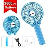 mini handheld fan - maxesla portable electric outdoor fan with 3 speed operation, rechargeable desk