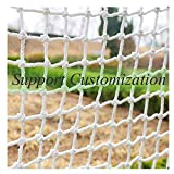 Protective Netting,Rope Stair Safety Dog Rail Pet Mesh Net Railing Netting Guard  Block for Gate Kids Lacrosse  Baseball Hockey Softball Archery Netted Golf Goal Backstop Pitchback Nets Net
