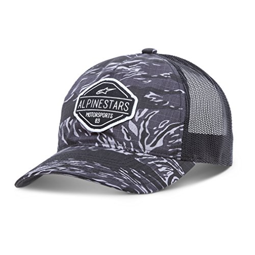 - Alpinestars Men's Curved Bill Structured Crown Snap Back Camouflage Flexfit Hat, Flavor Charcoal, OS