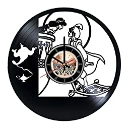 Animated Musical Fantasy Film Vinyl Record Wall Clock - Bedroom or kids room wall decor - Gift ideas for children, boys and girls - Unique Art Design
