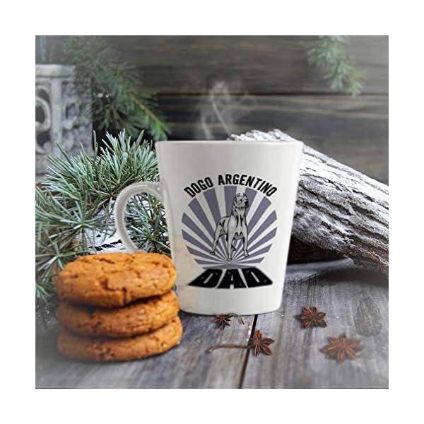 Ceramic Custom Latte Coffee Mug Cup Dad Dogo Argentino Dog Tea Cup 17 Oz Design Only 5