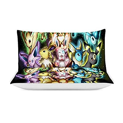 MEW Anime Poke-mon Twin Bedding Duvet Cover Set,Poke-mon Eeveelution,3 Pieces Bedding Set,with Zipper Closure and 2 Pillow Shams,Cute Boys Girls Comforter Sets,Luxury Guestroom Decorations: Kitchen & Dining