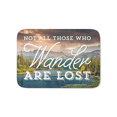 "Society6 Not All Those Who Wander Are Lost Bath Mat 21"" x 34"""