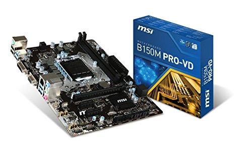 MSI Intel Skylake B150 LGA 1151 DDR4 USB 3.1 Micro ATX Motherboard (B150M Pro-VD) (Pentium Motherboard Matx)