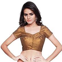 Mirchi Fashion Women's Cooper Art Silk Readymade Partywear Saree Blouse Choli