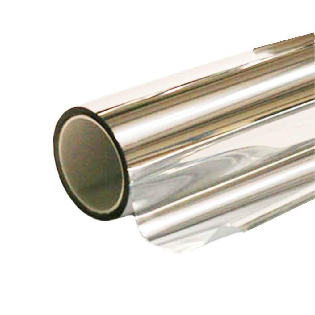 censhaorme 5/% Plata Cromo Espejo reflexivo pel/ícula de la Ventana 50cm x 6m Rollo de Vidrio Tinte Solar