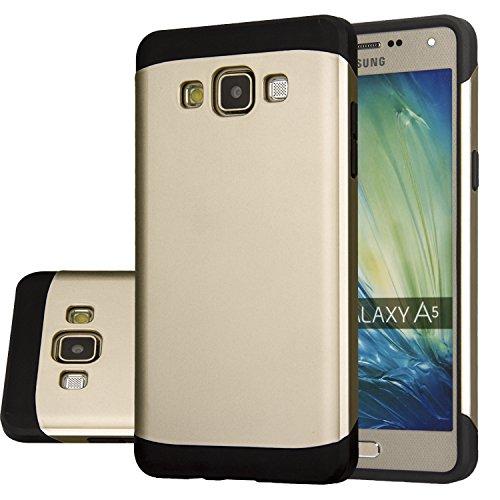 Galaxy A5 A500H Duos , A500M , A5 LTE, case Anoke? Armor Dual Poly Bumper TPU PC hybrid protective case for Samsung Galaxy A5 A500H Duos , A500M , A5 LTE, (Armor Gloden)