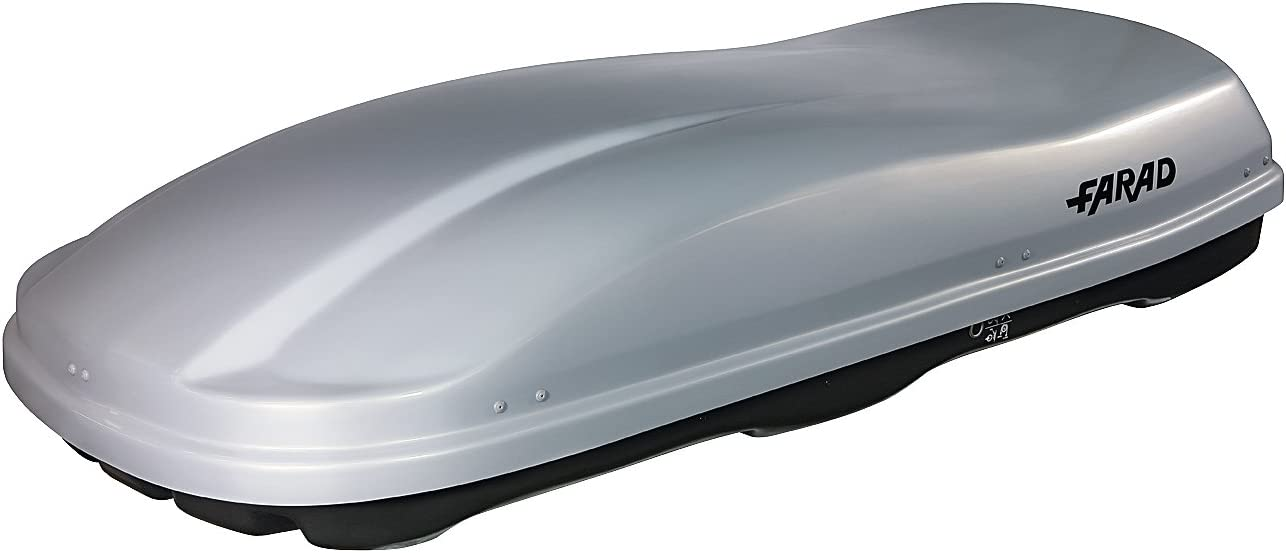 FARAD roof box KORAL 630L black Dual Side Opening with Central Locking