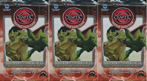 Chaotic Secrets of the Lost City ALLIANCES UNRAVELED Trading Card Game Booster - 3 PACK LOT (9 Cards/Pack)