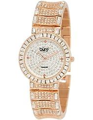 Burgi Womens BUR060RG Diamond & Baguette Quartz Watch