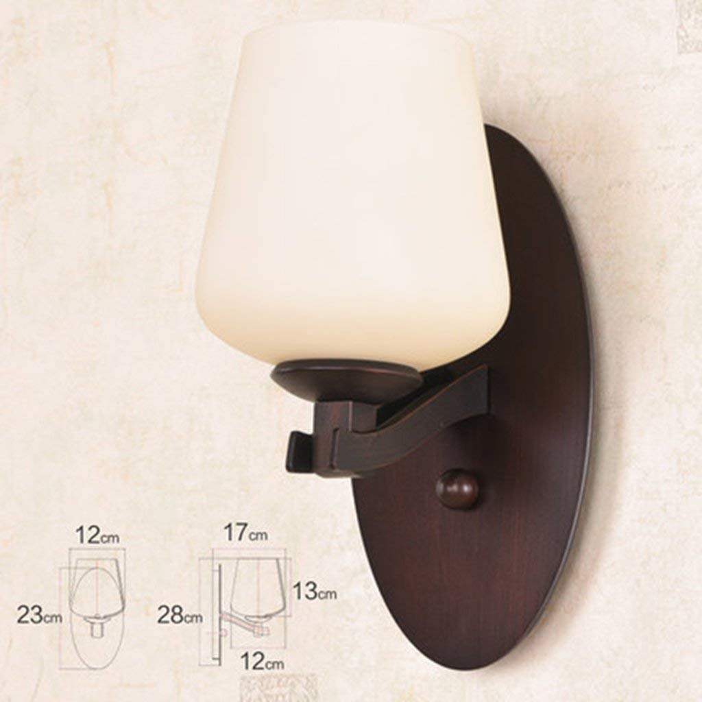 WHKHY Retro Wall Lamp Irons Lounge Lights The Bedchamber The Lamps of The Simple Background Lighting Front Mirrors The Light Walk Lights, A