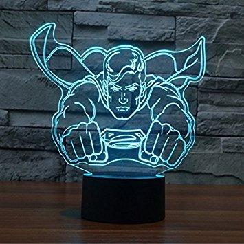 SUPERNIUDB 3D Marvel Hero Figure 3D Super Bright Night Light 7 Color Change LED Table Lamp Xmas Toy Gift