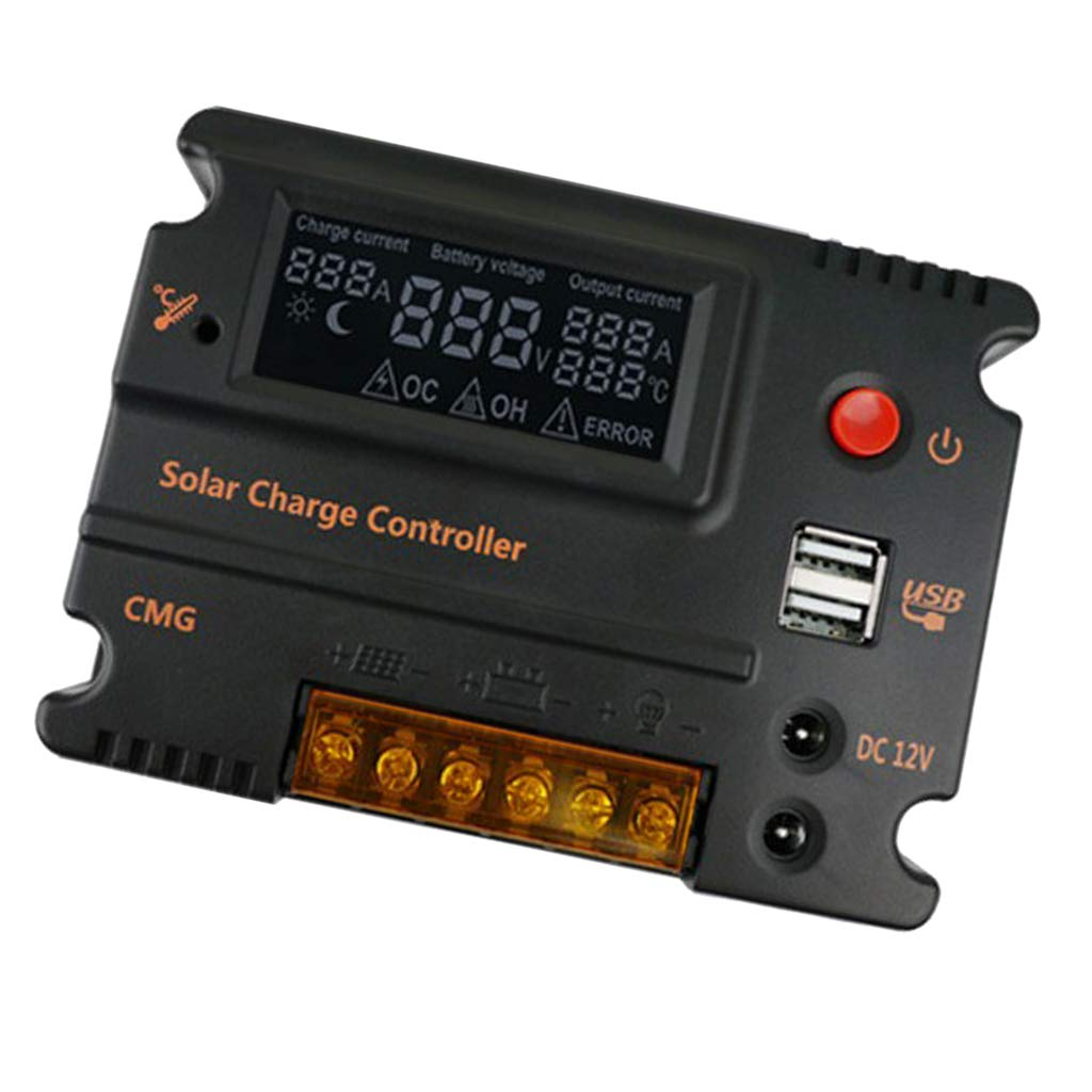 Charge Solaire Contr/ôleur 100A Fulltime/® 40//50//60//100A MPPT de Charge Solaire Contr/ôleur Auto 12//24 v Panneau Solaire batterie R/égulateur Contr/ôleur de Charge Double USB