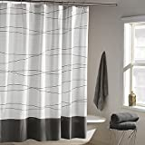 DKNY Wavelength Shower Curtain in Grey | 100% cotton