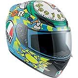 AGV K3 Wake Up Full Face Motorcycle Helmet (Multicolor, XX-Large)