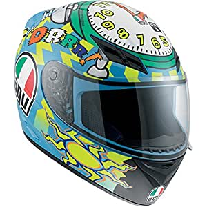 AGV K3 Wake Up Full Face Motorcycle Helmet (Multicolor, Large)