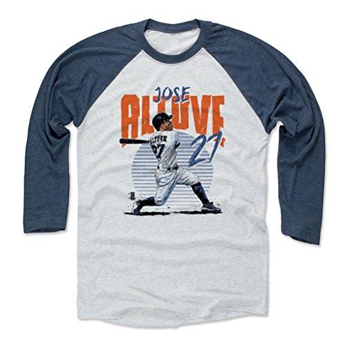 500 LEVEL Jose Altuve Baseball Tee Shirt X-Small Indigo/Ash - Houston Baseball Raglan Shirt - Jose Altuve Rise B