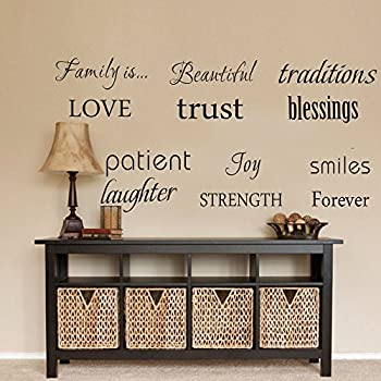 Awesome LUCKKYY Family Wall Decal~~ Set Of 12 Family Words Quote Vinyl Family Wall  Decal Family Room Art Decoration Living Room Decor Decoration For Home Decor