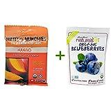 Matt's Munchies Premium Fruit Snack Mango -- 1 oz, ( 7 PACK ), Nature's All Foods Organic Freeze-Dried Raw Blueberries -- 1.2 oz