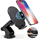 Megwoz Wireless Car Charger Mount, 7.5W/10W Fast Charging, Auto-Clamping, Dashboard Air Vent Phone