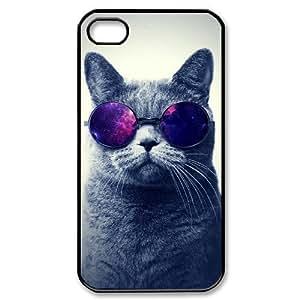 GGMMXO Cute Cats 1 Phone Case For Iphone 4/4s [Pattern-1]