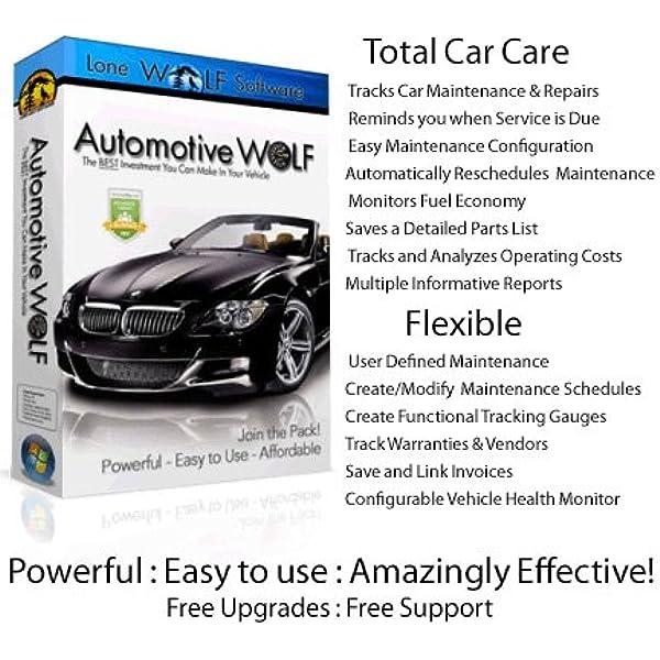 Amazon Com Automotive Wolf Pro Car Maintenance Management Software