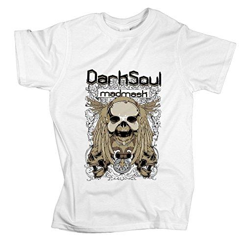 ZDesign T-Shirt Dark Souls Madmask Totenkopf Metal Shirt | Größe XS-4XL | Ideales Geschenk