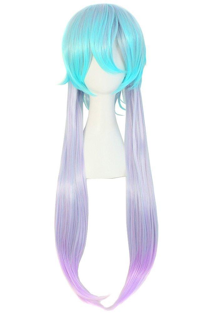 MapofBeauty Harajuku Style Mixed Light Blue/ Light Purple Anime Costume Cosplay Wig