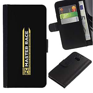 JackGot ( Race Master ) HTC One M8 la tarjeta de Crédito Slots PU Funda de cuero Monedero caso cubierta de piel