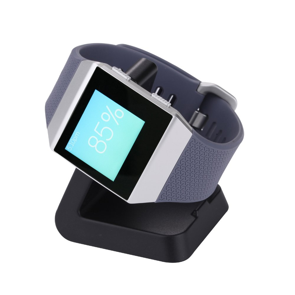 Fitbit Ionic Charger, QIBOX Charging Dock Charging Stand Accessories Station Holder with 3ft USB Cable for Fitbit Ionic Smart Watch