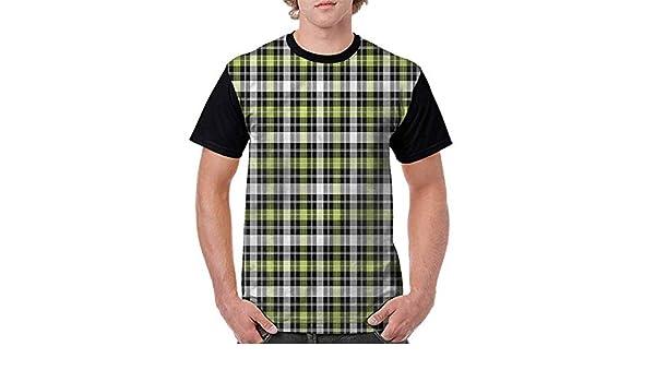 BlountDecor Round Neck T-Shirt,Vertical Stripes Fashion Personality Customization