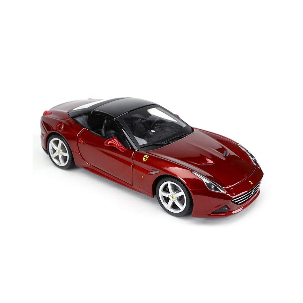 Black HXGLCar model Alloy Car Model Simulation Collection Decoration Ferrari California T1  24 Static Fully Enclosed (color   BLACK)