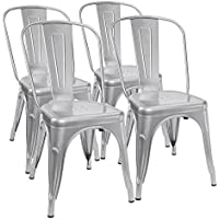 Cool Sale Furmax Metal Dining Chair Tolix Style Indoor Outdoor Machost Co Dining Chair Design Ideas Machostcouk