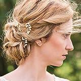 Venusvi Ivory Pearl Clip, Bridal Hair Pins, Wedding Hair Accessories, Set of 3