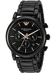 Emporio Armani Mens AR1509 Dress Black Quartz Watch