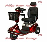 Shoprider - Enduro XL3 Plus - Heavy Duty Scooter - 3-Wheel - Burgundy - PHILLIPS POWER PACKAGE TM - TO $500 VALUE