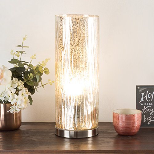 Lavish Home 72-Uplt-1 Table Lamp with Silver Mercury Finish by Lavish Home