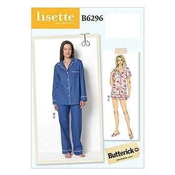 Butterick Schnittmuster 6296 Pfanne zum Pyjama Oberteile, Shorts ...