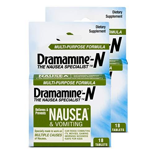 Dramamine-N Multi-Purpose Formula Nausea Relief   18 Count   2 Pack