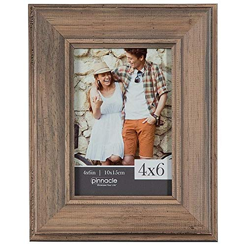 - Brown Pecan Slant Distressed 4x6 Wood Frame by Pinnacle - 4x6