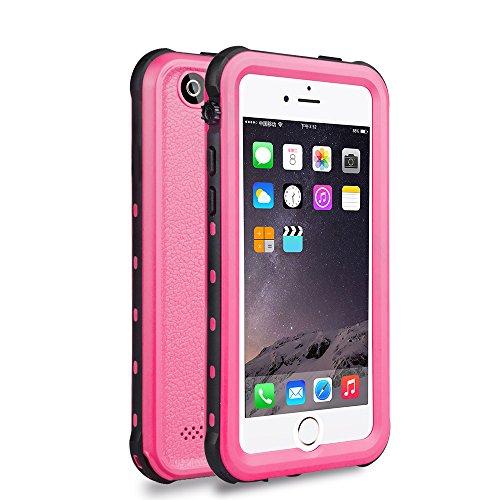 iPhone 5 5S SE Waterproof Case, IP68 Certified Waterproof Shockproof Dirtproof Snowproof Heavy Duty Protective Cover, Full Sealed Case with Built-in Screen Protector for iPhone 5 5S SE (Pink) (Pink Screen Protector 5s)