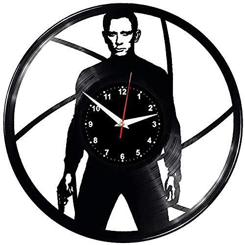 SKGZT Wall Clocks James Bond Wall Clock Vinyl Record Vinyl Clock James Bond ()